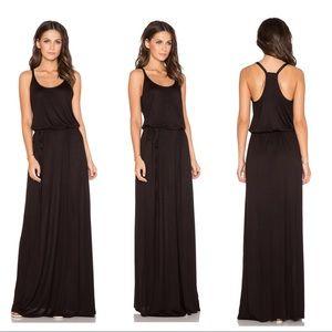 NWOT Splendid Midnight Jersey Racerback Maxi Dress